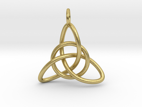 Celtic Knot in Natural Brass (Interlocking Parts)