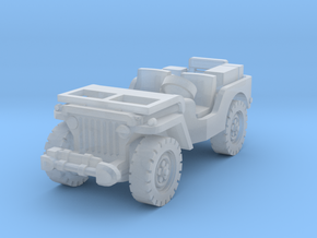 Jeep airborne (radio) scale 1/144 in Smooth Fine Detail Plastic