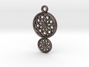 Dreamcatcher Pendant in Polished Bronzed Silver Steel