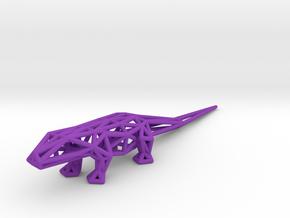 Lizard in Purple Processed Versatile Plastic