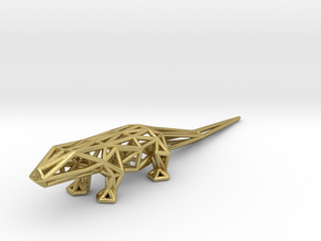 Lizard in Natural Brass