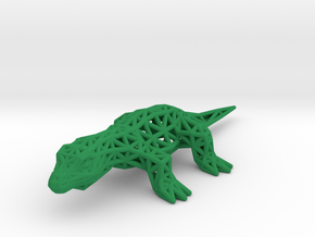 Nile Monitor (adult) in Green Processed Versatile Plastic