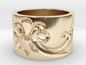 Flourish 2  in 14K Yellow Gold: 3 / 44