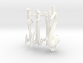GAUL WEAPONS SET WITH CARNYX  in White Processed Versatile Plastic