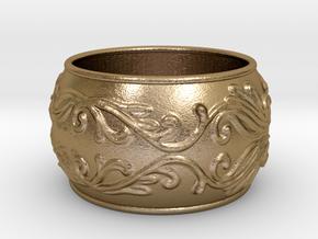 Lady Warrior bracelet in Polished Gold Steel: Medium