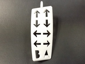 Konami Code Pendant - Twisted in White Strong & Flexible