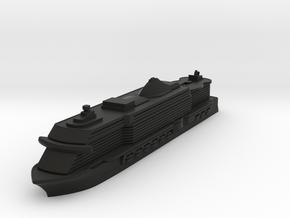 Miniature MSC Seaside Cruise Ship - 10cm in Black Natural Versatile Plastic