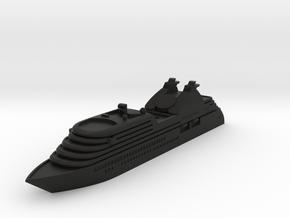 Miniature Seabourn Odessey - 10cm in Black Premium Versatile Plastic