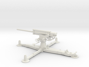 1/30 IJA Type 4 75mm Anti-aircraft Gun in White Natural Versatile Plastic