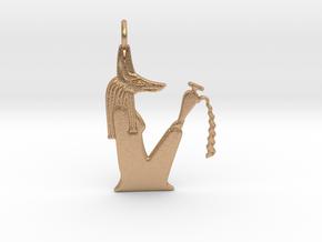 Kebehwet amulet (Jackal version) in Natural Bronze