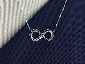 Infinity DNA Pendant in Polished Silver