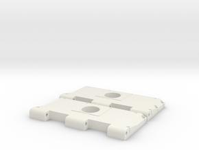Widerlager Lüftergitter, offen in White Natural Versatile Plastic
