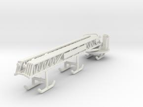 1/87 100' Rear Mount Ladder Boom in White Natural Versatile Plastic