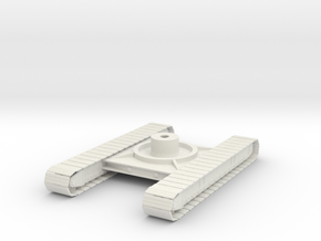 1/50th P&H Crane tracked Crawler undercarriage in White Natural Versatile Plastic