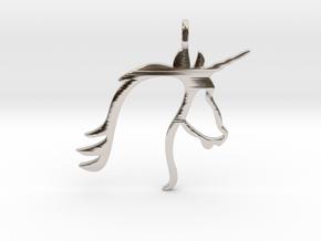 Unicorn in Rhodium Plated Brass