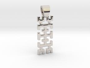 Hilbert curve [pendant] in Platinum