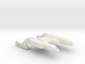 3788 Scale Lyran Refitted Running Tiger CVN in White Natural Versatile Plastic