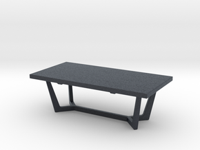 Miniature Jada Coffee Table - Gramercy Home in Black Professional Plastic: 1:12