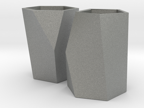 Pair of Packable Scutoids in Gray Professional Plastic: Small