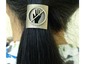 Don't Touch My Hair : No Touching! Hair Tie in Stainless Steel: Small