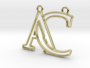 Monogram with initials A&C in 18k Gold Plated Brass