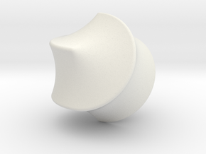 Hexasphicon Sloped in White Natural Versatile Plastic