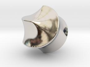 Hexasphericon Sloped in Rhodium Plated Brass