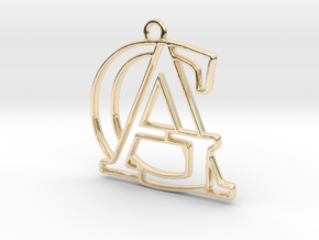 Monogram with initials A&G in 14k Gold Plated Brass