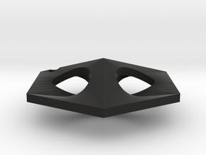 Continua Earing in Black Natural Versatile Plastic: Small