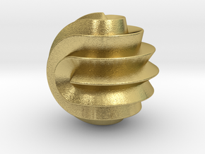 16 Point Sphericon in Natural Brass
