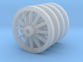 Carriage wheels 28mm scale in Smooth Fine Detail Plastic