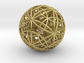 "Sphere of Sacred Union 2.5"" (No Bale) in Natural Brass"