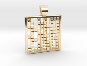 Primes's grid [pendant] in 14k Gold Plated Brass