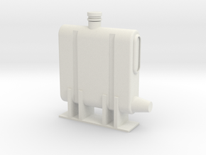 oil_tank1:4 for Lama or Alouette in White Natural Versatile Plastic
