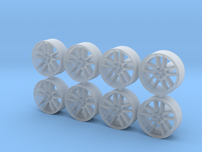 Kwame 12x5mm 1/43 Scale Wheels in Smoothest Fine Detail Plastic