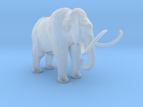 HO Scale Woolly Mammoth in Smooth Fine Detail Plastic