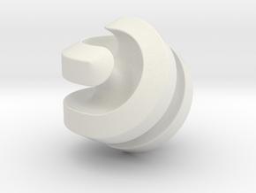 Hexasphericon Channels in White Premium Versatile Plastic