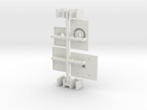 119 tender bolster pivots and spring yokes in White Natural Versatile Plastic