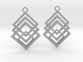 Geometrical earrings no.1 in Aluminum: Small