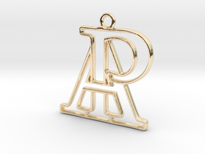 Monogram with initials A&P in 14k Gold Plated Brass