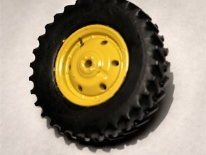 "1/64 Scale 42"" Green & Yellow Rear Singles in Smooth Fine Detail Plastic"