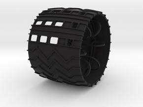 curiosity_wheel_5dia_12mm_hex in Black Natural Versatile Plastic