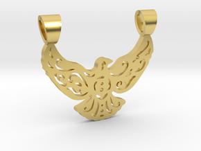 Lacework bird [pendant] in Polished Brass