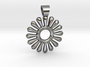 Sun of teeth in Polished Silver