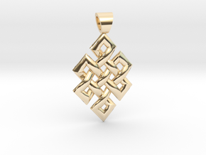Flag knot [pendant] in 14k Gold Plated Brass