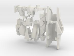 VF-9 RIGHT LEG in White Natural Versatile Plastic: 1:60