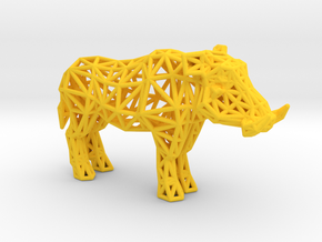 Warthog (adult male) in Yellow Processed Versatile Plastic