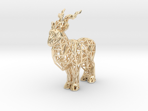 Markhor (adult male) in 14k Gold Plated Brass
