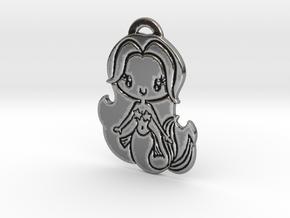 Chibi Mermaid in Antique Silver