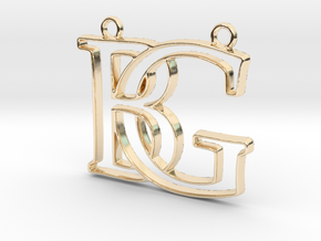 Monogram with initials B&G in 14K Yellow Gold